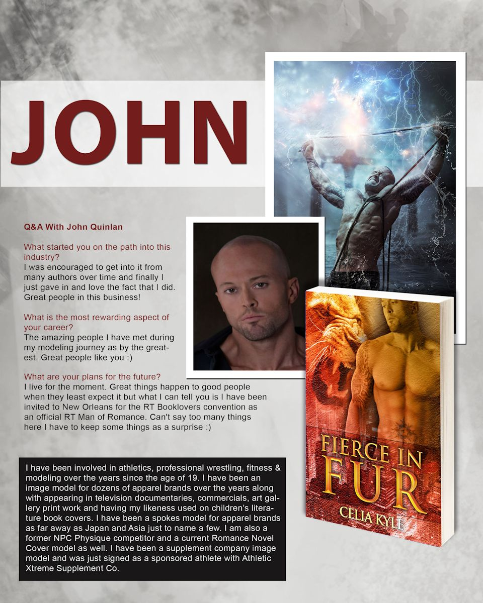 Romance Book Cover Review : July ☆actor model john joseph quinlan page