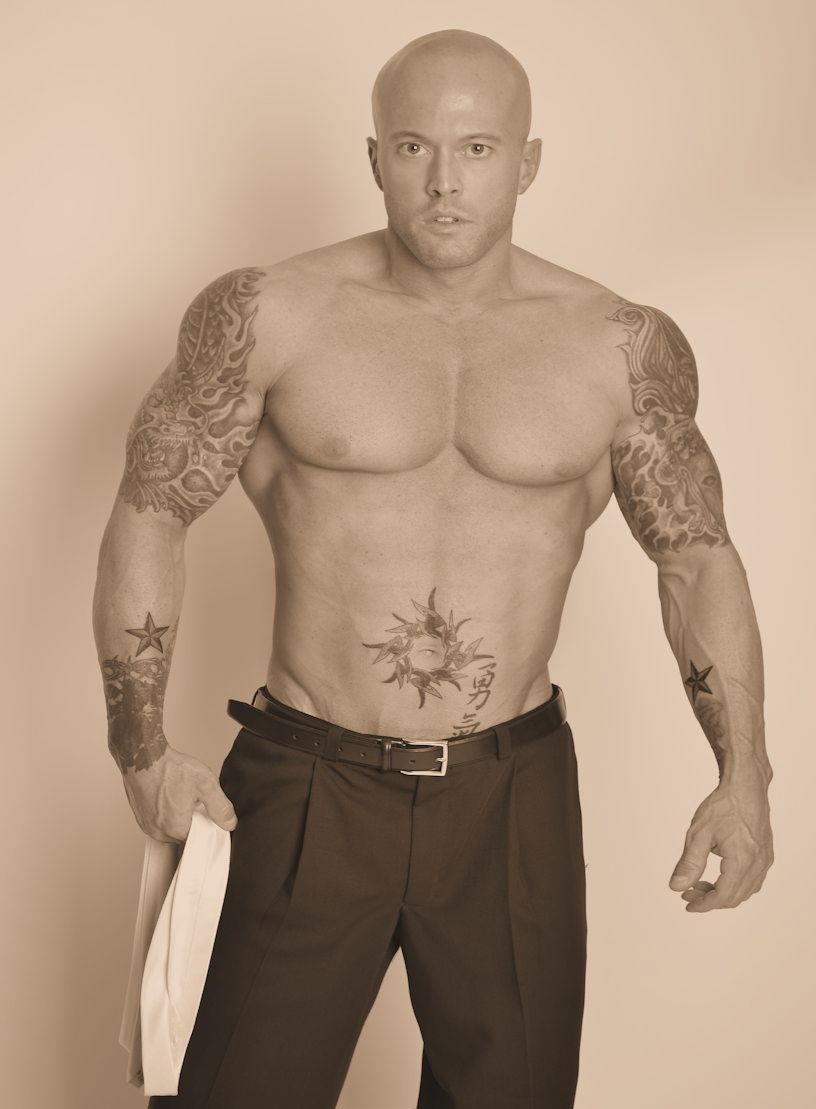 Tattooed Male Romance & Fashion Model John Quinlan 2013