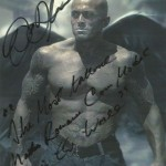 Tattooed Romance Cover Model John Quinlan Angel of Satan Autograph 8x10