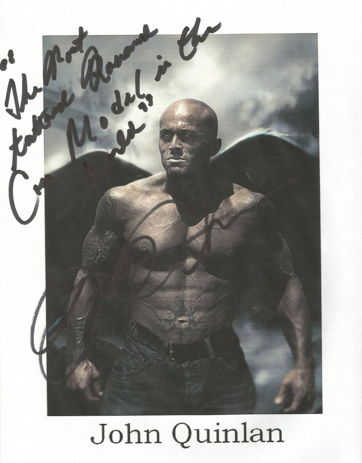 Tattooed Romance Model John Quinlan Angel of Satan Autograph