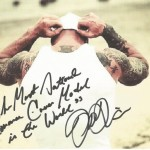 The Most Tattooed Male Romance Cover Model in the World John Quinlan 8x10 Autograph