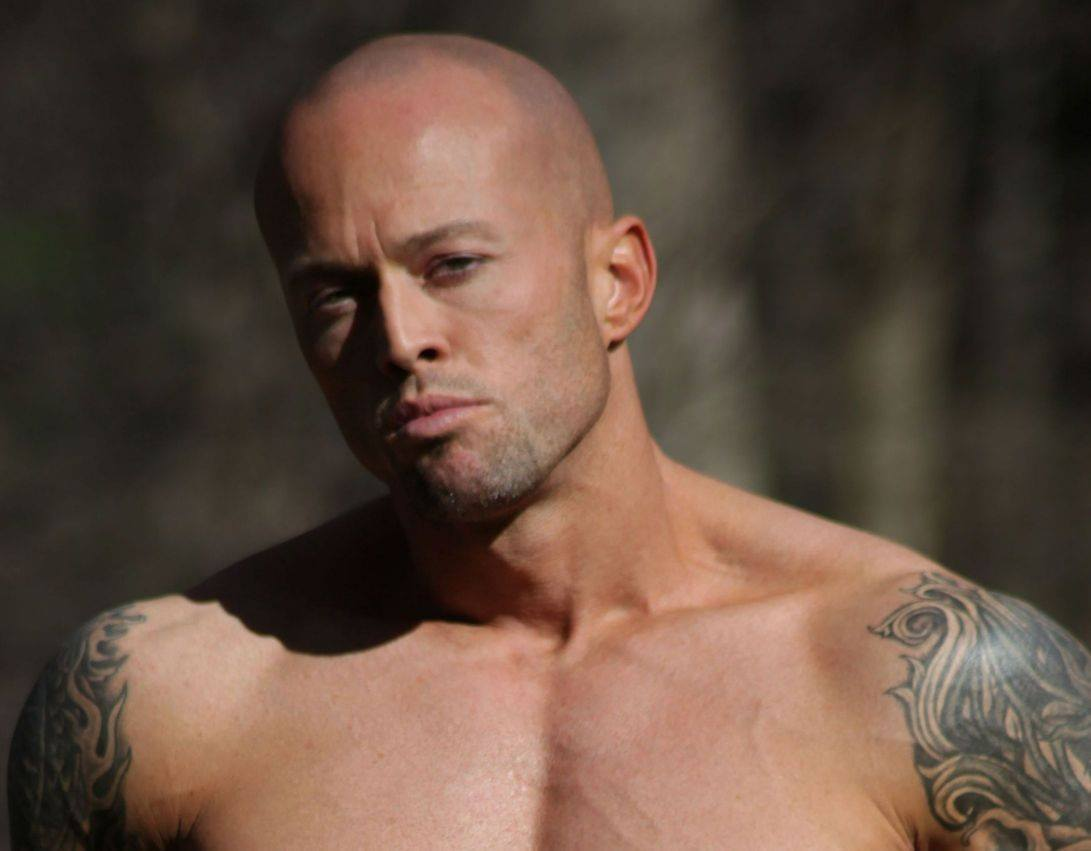 Tattooed Male Romance Cover Model John Quinlan as Beckett Taylor