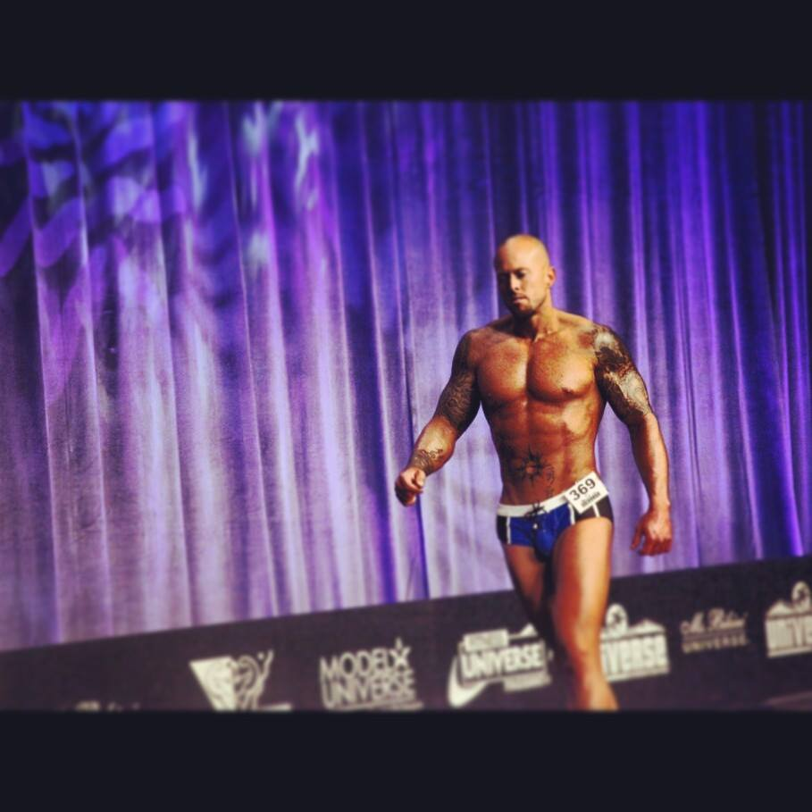 Tattooed Model Universe Competitor John Quinlan ESPN