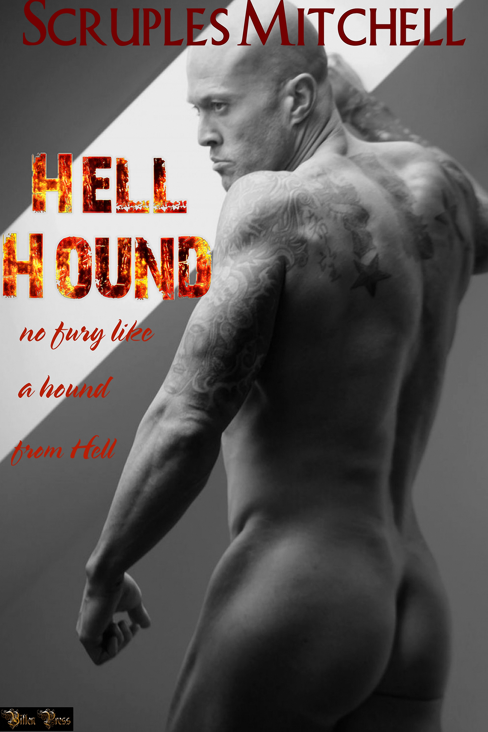 Tattooed Romance Cover Model John Quinlan Hell Hound by Bitten Press