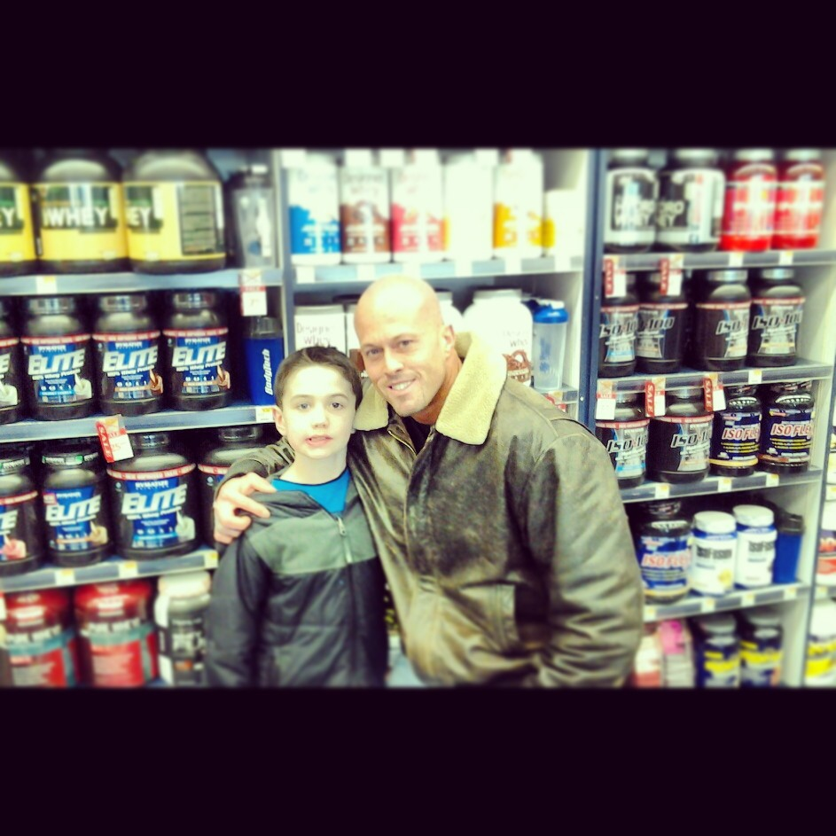 Tattooed Model John Quinlan & Son @ The Vitamin Shoppe