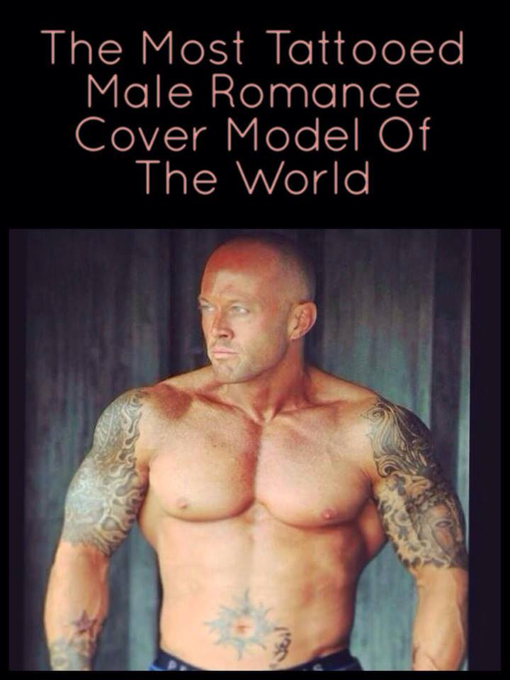 The Most Tattooed Male Romance Cover Model in the World John Quinlan