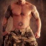 Tattooed Model John Quinlan Soldier Themed Shoot 14'