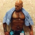 2014 NPC Jay Cutler Classic Boston Physique Model John Quinlan Post Prejudging Photo