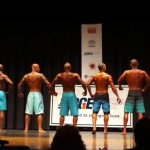 2014 NPC Vermont Men's Physique Masters Final - #27 John Quinlan (2nd from left)