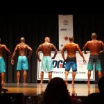 2014 NPC Vermont Mens Physique Masters Final - #27 John Quinlan (3rd from left)