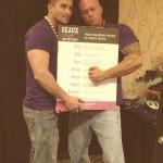 Models John Quinlan & Jeremy Rivenburg Friends Fight Together Breast Cancer Fund 14'