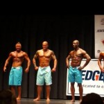 NPC Vermont 2014 Mens Physique Masters Final - #27 John Quinlan (2nd from left)
