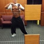 Tattooed Physique Model John Quinlan Before 2014 NPC Jay Cutler Classic Boston