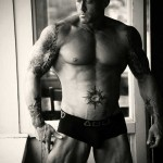 Tattooed Alpha Male Image Model John Quinlan 13'