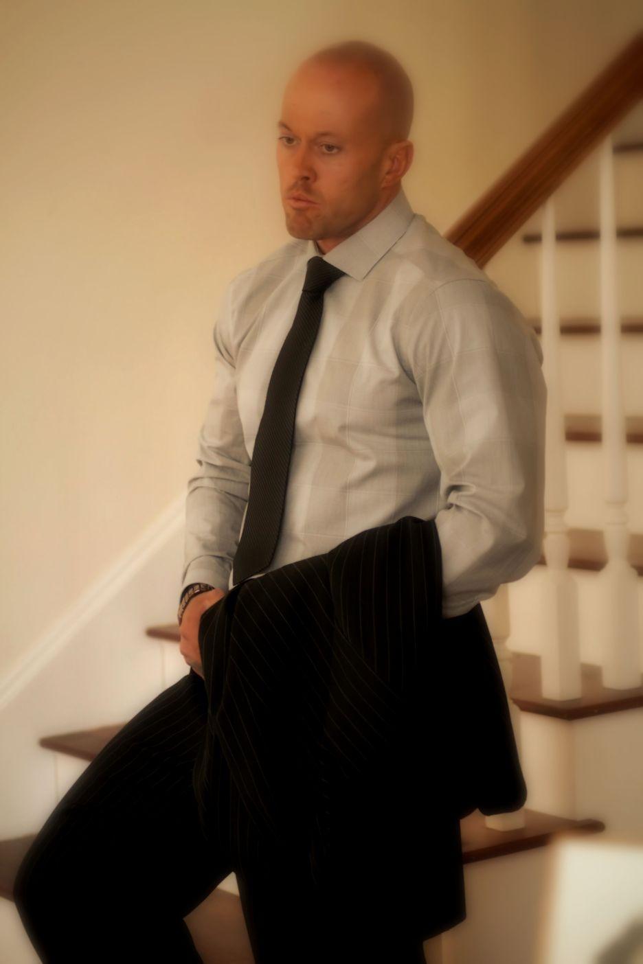 Tattooed Fashion Model John Quinlan in Apparel by Calvin Klein 2014