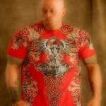 Tattooed Model John Joseph Quinlan Shoot in Konflict 2014