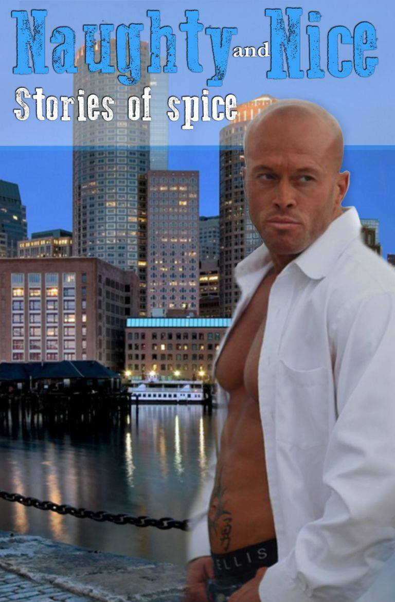 Model John Quinlan Naughy and Nice Book Cover by Copper Rose Graphics