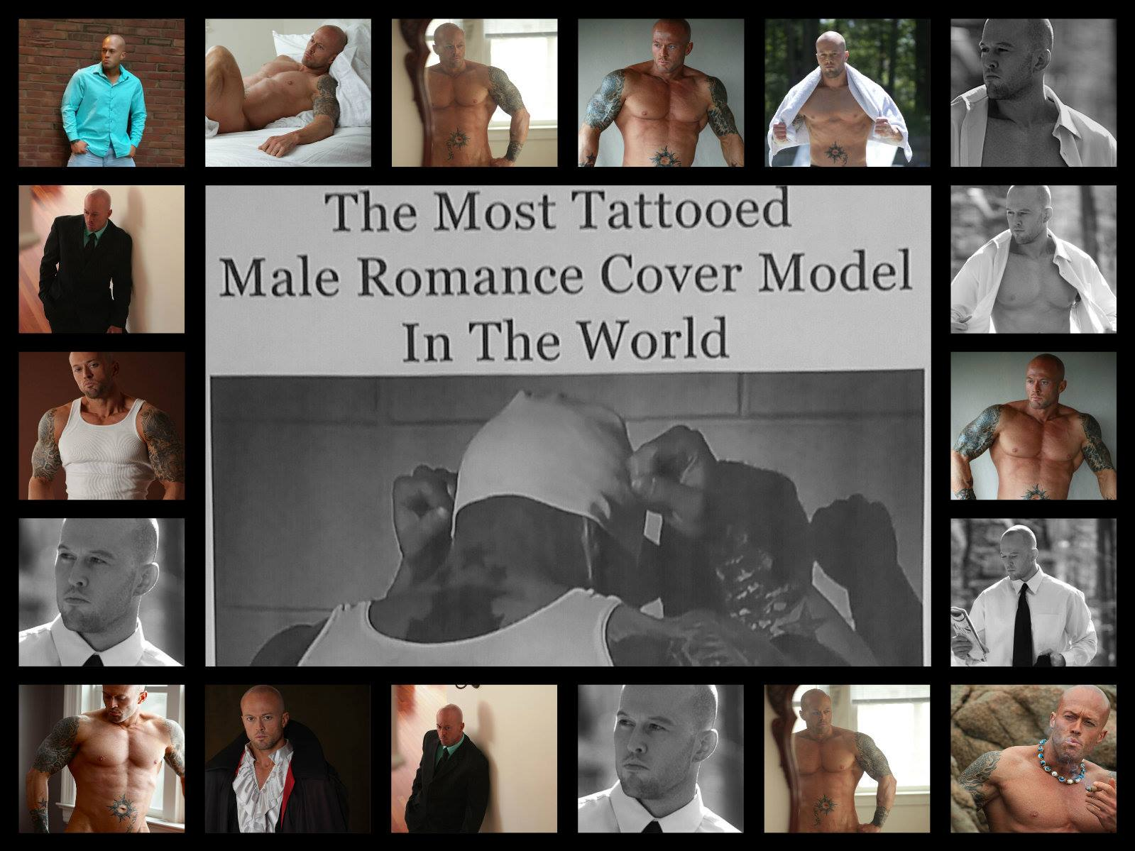 Featured Most Tattooed Romance Model John Quinlan