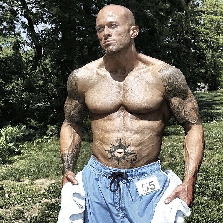Tattooed NPC Physique & Fitness Model John Joseph Quinlan