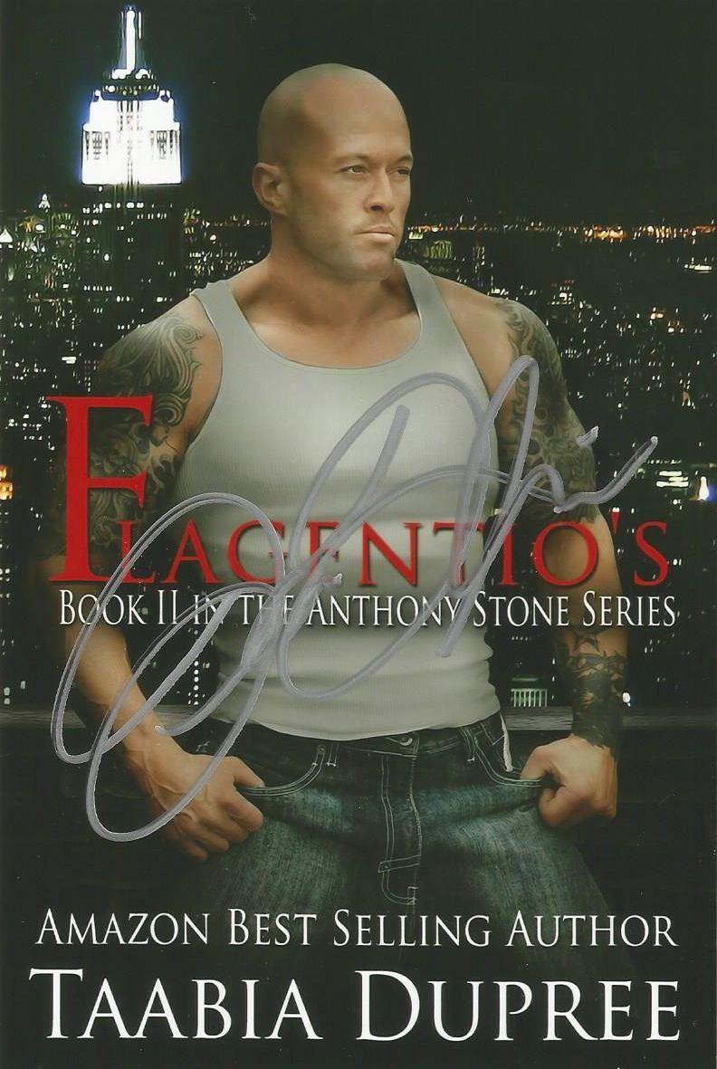 ☆Signed Memorabilia - 'The Most Tattooed Male Romance Cover Model in The World 2014' John Joseph Quinlan Autographed Flagentio's Book Promo by Author Taabia Dupree #JohnQuinlan