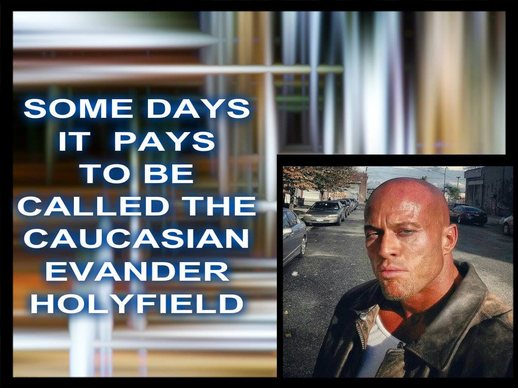 John Quinlan - 'The Caucasian Evander Holyfield' by Patricia Statham