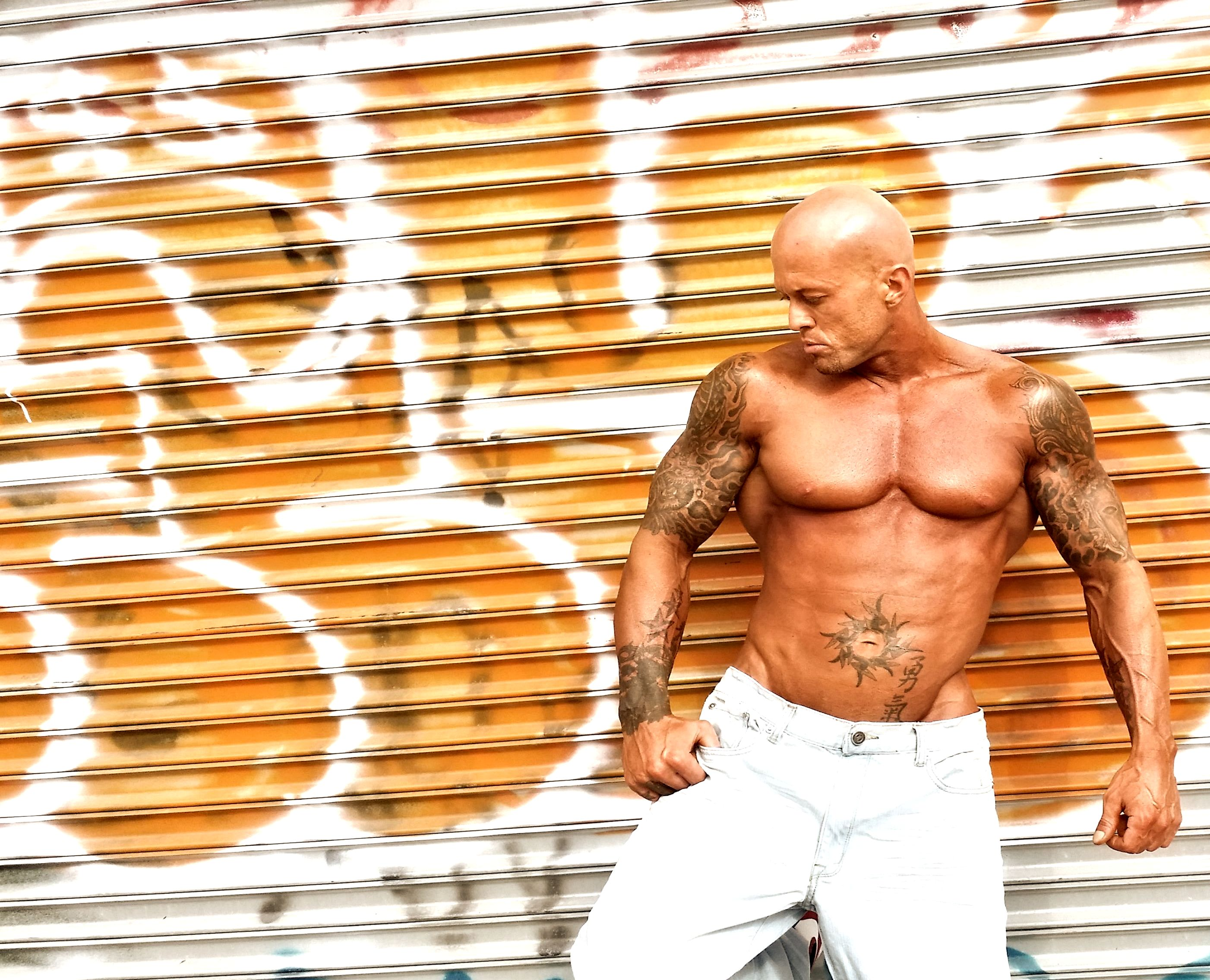 Tattooed Physique Model John Quinlan Brooklyn Shoot