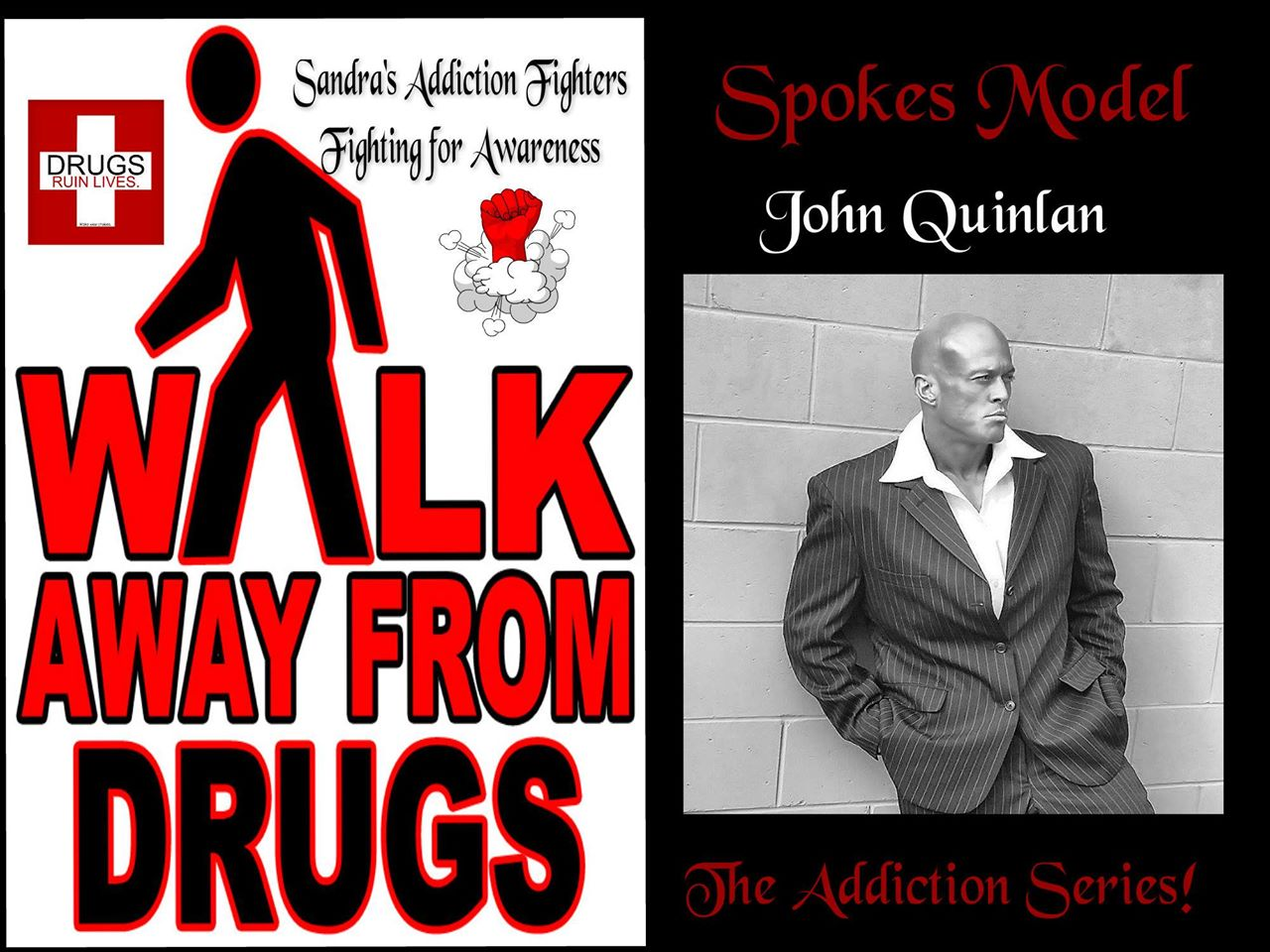 Addiction Series Celebrity Spokes Model John Joseph Quinlan Drugs Awareness Poster by Sandra Shrewsbury