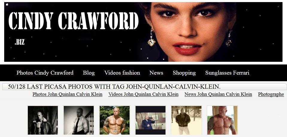 John Quinlan in Calvin Klein @ Cindy Crawford.biz  #JohnQuinlan