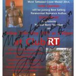 Most Tattooed Cover Model 2014 John Joseph Quinlan Club RT Khloe Wren Natural Born Guardian Autograph Promo Poster