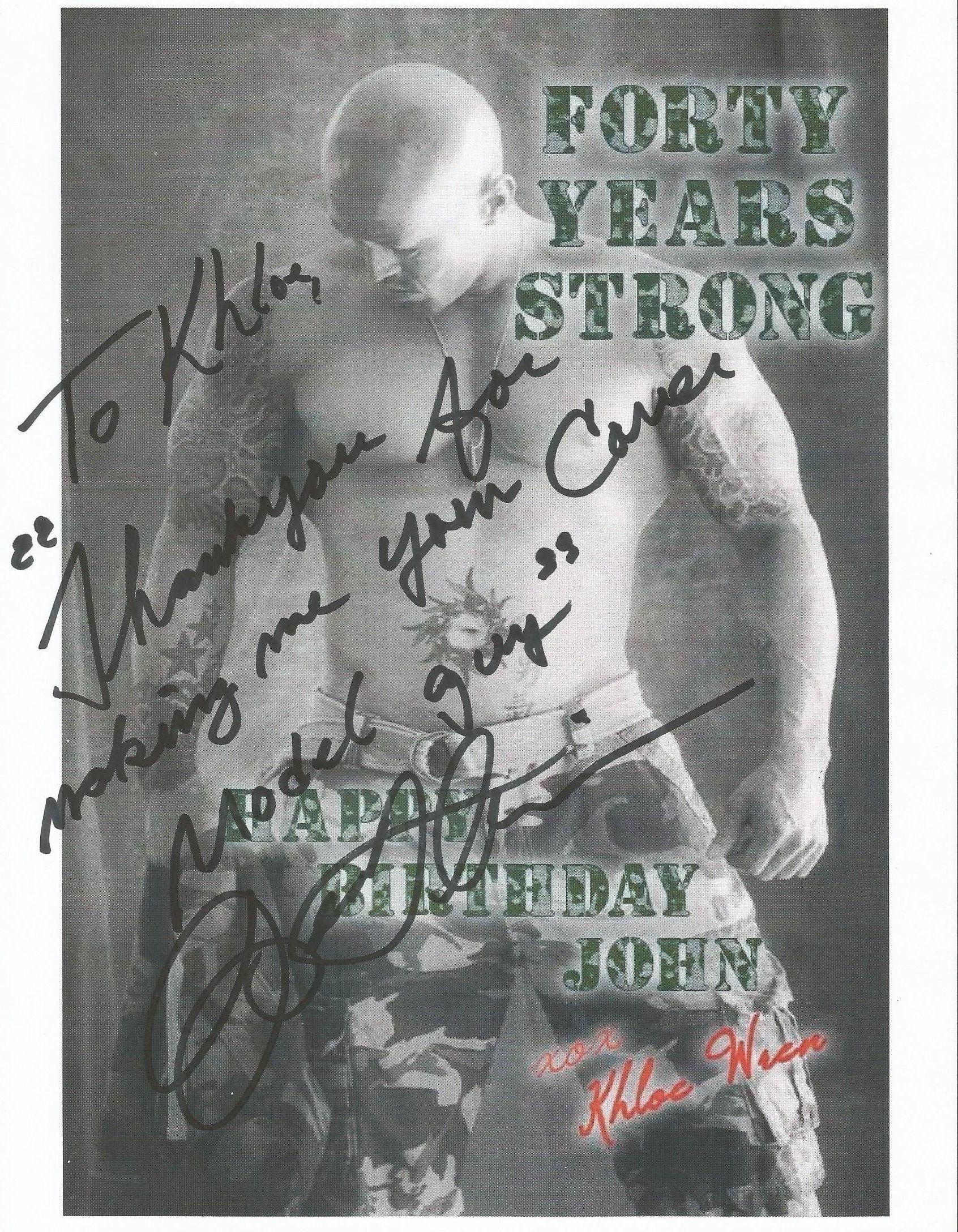 Cover Model John Quinlan Happy Birthday Khloe Wren Autograph Signed 8x10