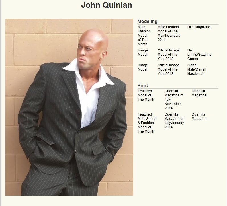 John Quinlan Model Profile in Calvin Klein. #JohnQuinlan