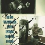 Boston Romance Physique Model Actor John Quinlan 2015 Pilot Film Character Creation Inspiration Evander Holyfield Signed 8x10 Poster Autograph via Patricia Statham. #JohnQuinlan
