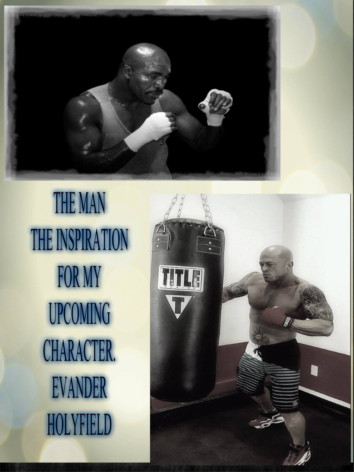 Boston Romance Physique Model Actor John Quinlan Evander Holyfield 2015 Pilot Film Character Creation Inspiration Poster. #JohnQuinlan