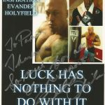 Boston Romance Physique Model Actor John Quinlan Evander Holyfield 2015 Pilot Film Character Inspiration Poster by Patricia Statham Autograph Signed 8x10