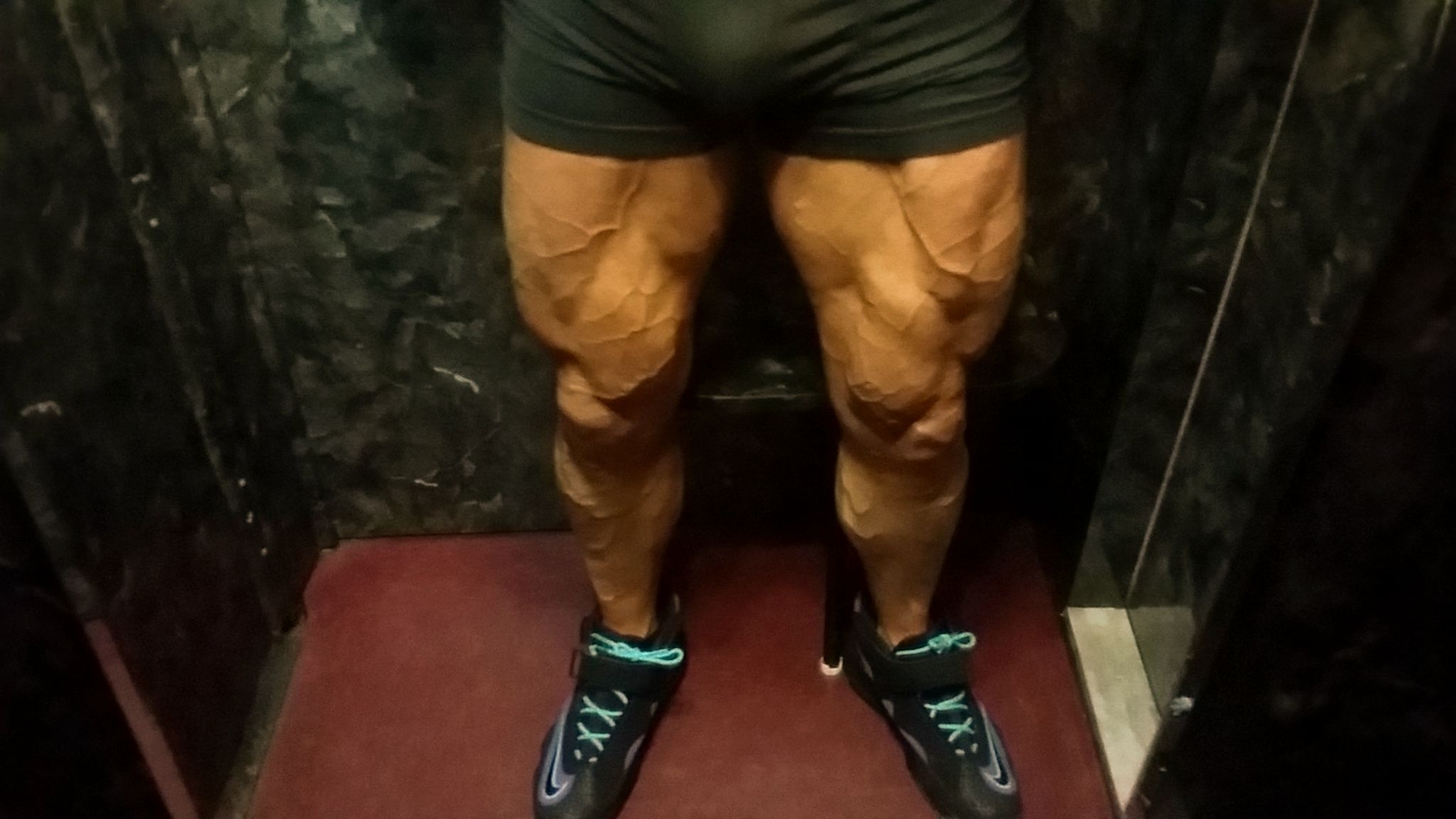Tattooed Romance Cover Model John Joseph Quinlan 2015 Arnold Amateur Men's Physique Class D Competitor Thighs & Calves @ 1 Week Out. #JohnQuinlan