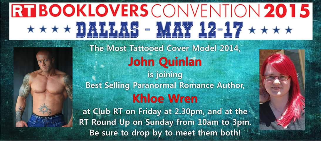 The Most Tattooed Romance Cover Model 2014 John Joseph Quinlan Featured with Khloe Wren Advertisement
