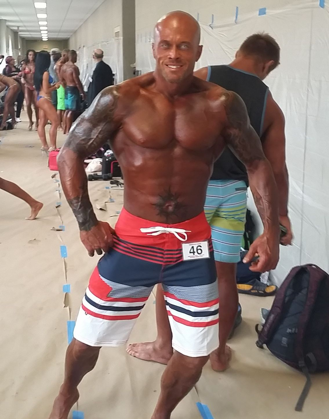 2015 NPC Montanari Bros Powerhouse Classic Men's Physique Competitor #46 John Joseph Quinlan #JohnQuinlan