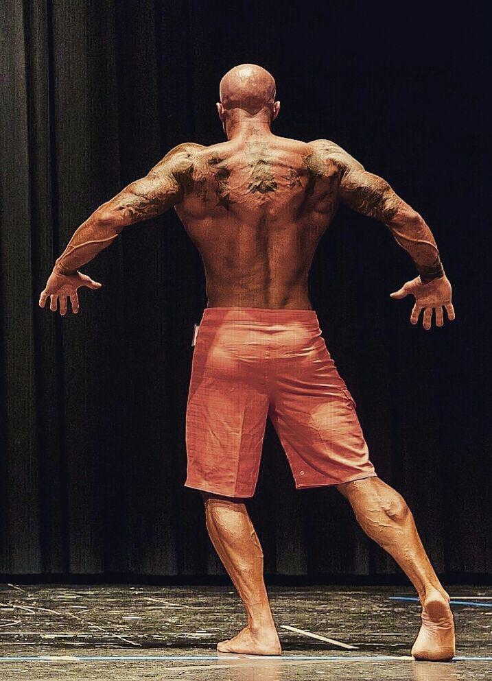 John Joseph Quinlan 2015 NPC Vermont Bodybuilding Championships Men's Physique on Stage Photo by Chris Keeley #JohnQuinlan