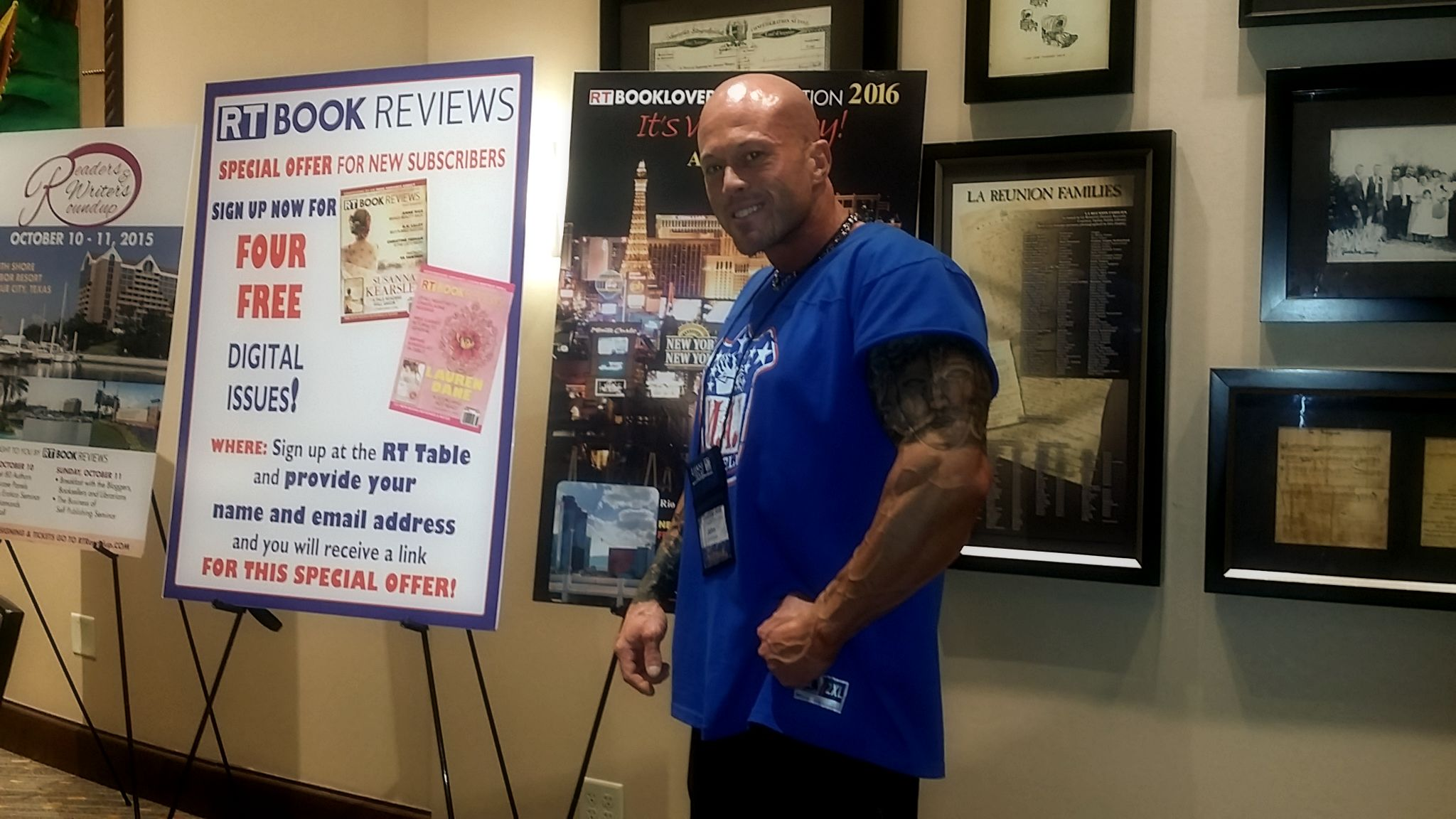 2015 RT Convention Dallas Texas Featured Cover Model John Joseph Quinlan #JohnQuinlan