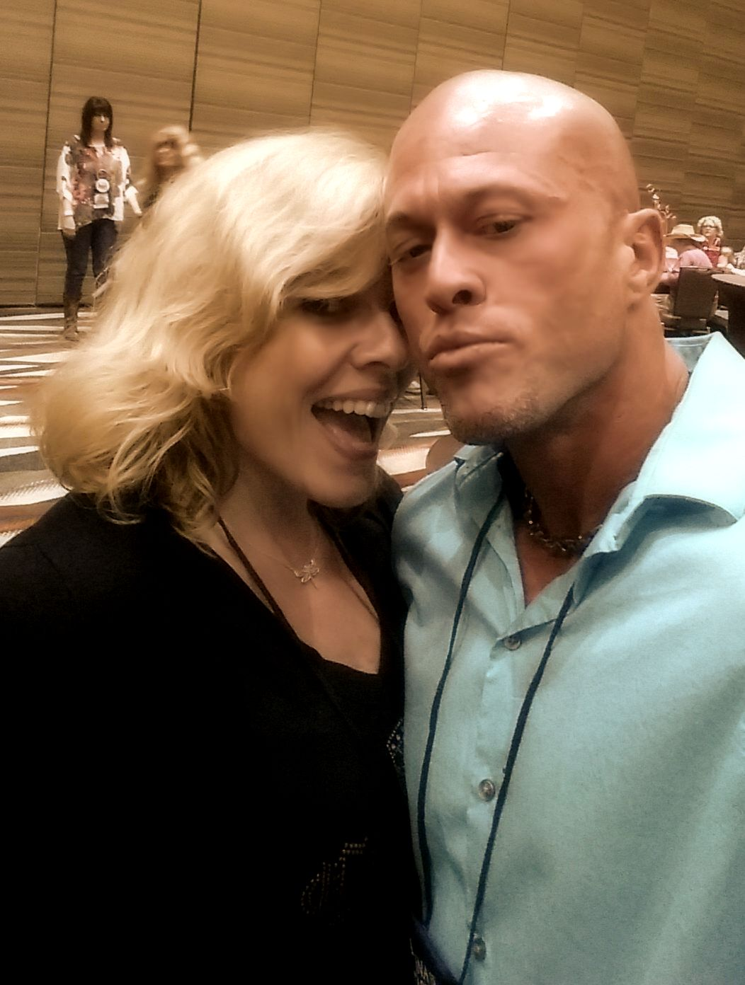 Author Sara Humphreys & Featured Cover Model John Joseph Quinlan @ 2015 RT Convention Dallas Texas #JohnQuinlan