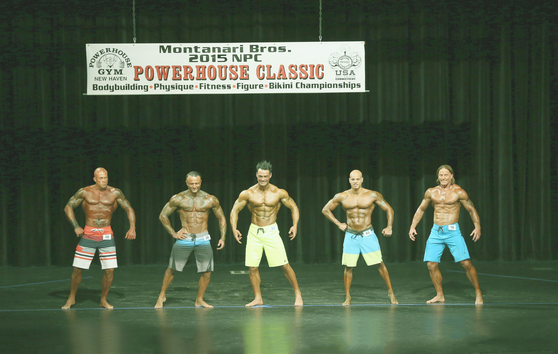 John Joseph Quinlan (far left) 2015 NPC Montanari Bros Powerhouse Classic Men's Physique on Stage Photo by Warren Gramman #JohnQuinlan