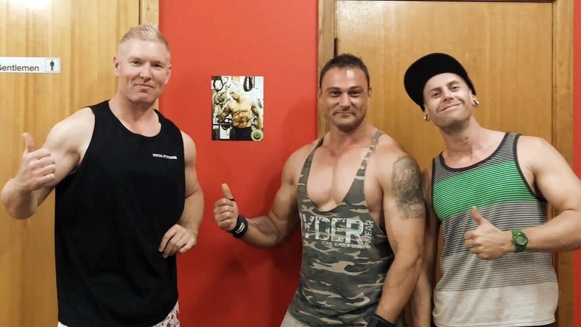 Tattooed Physique Model & Actor John Joseph Quinlan Signed 8x10 Autograph @ Total Fitness Gym Murray Bridge Australia #JohnQuinlan
