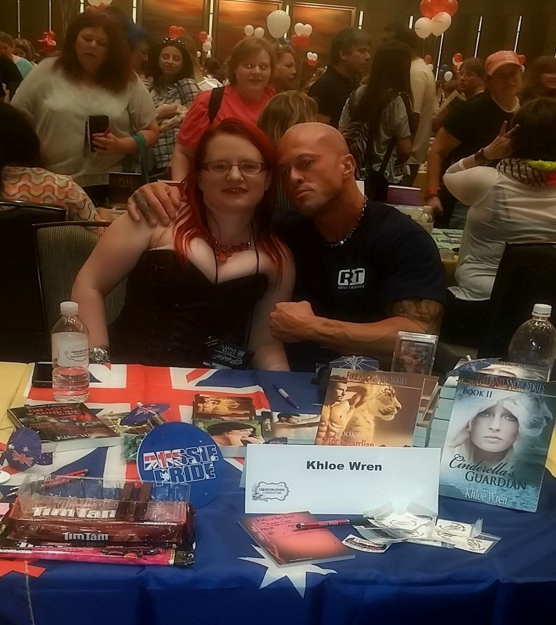 Author Khloe Wren & Featured Cover Model John Joseph Quinlan Autograph Signing @ 2015 RT World Famous Book Fair #JohnQuinlan