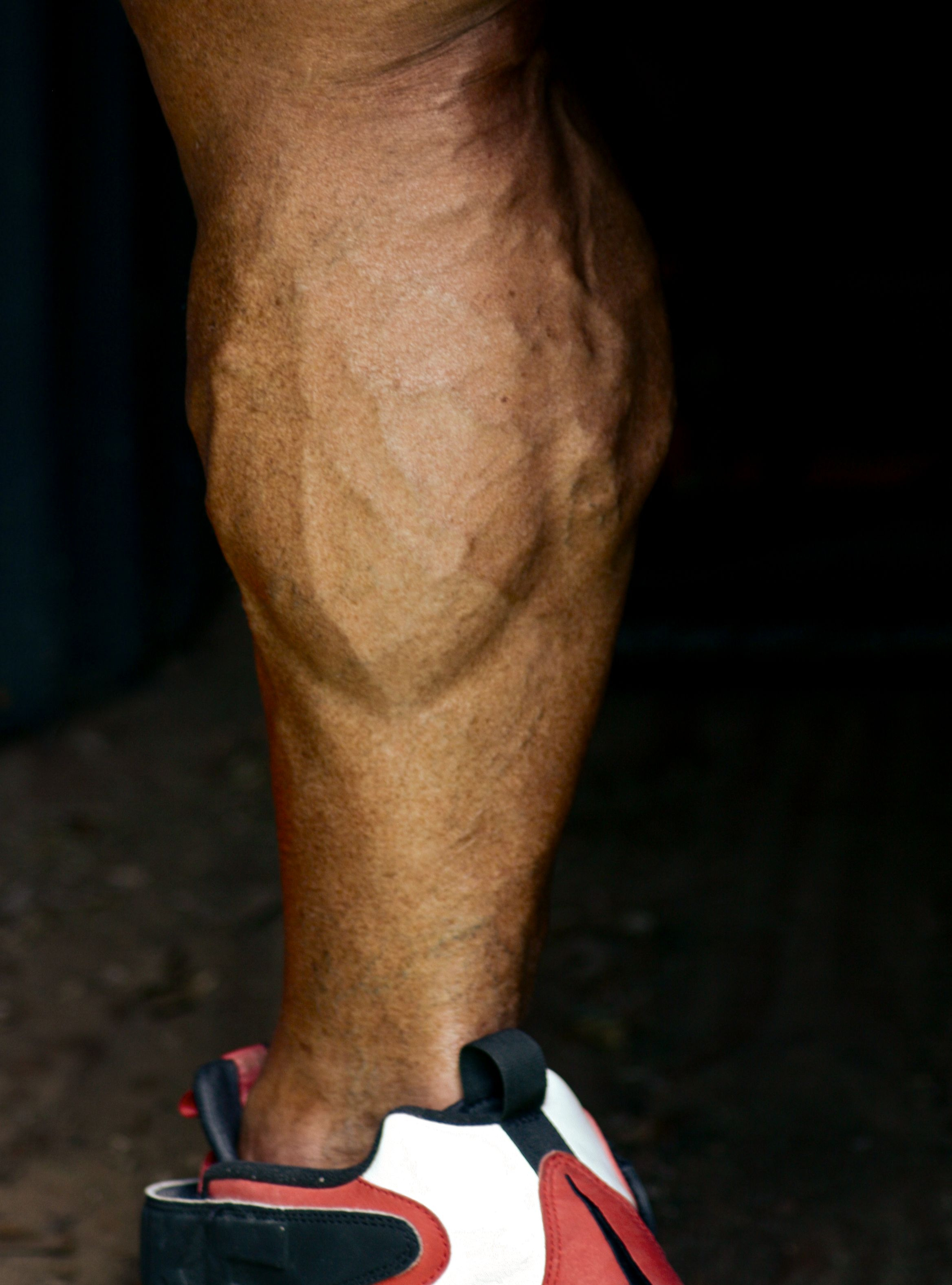 2015 Physique Model Fitness Shoot John Joseph Quinlan Calf Close Up #JohnQuinlan