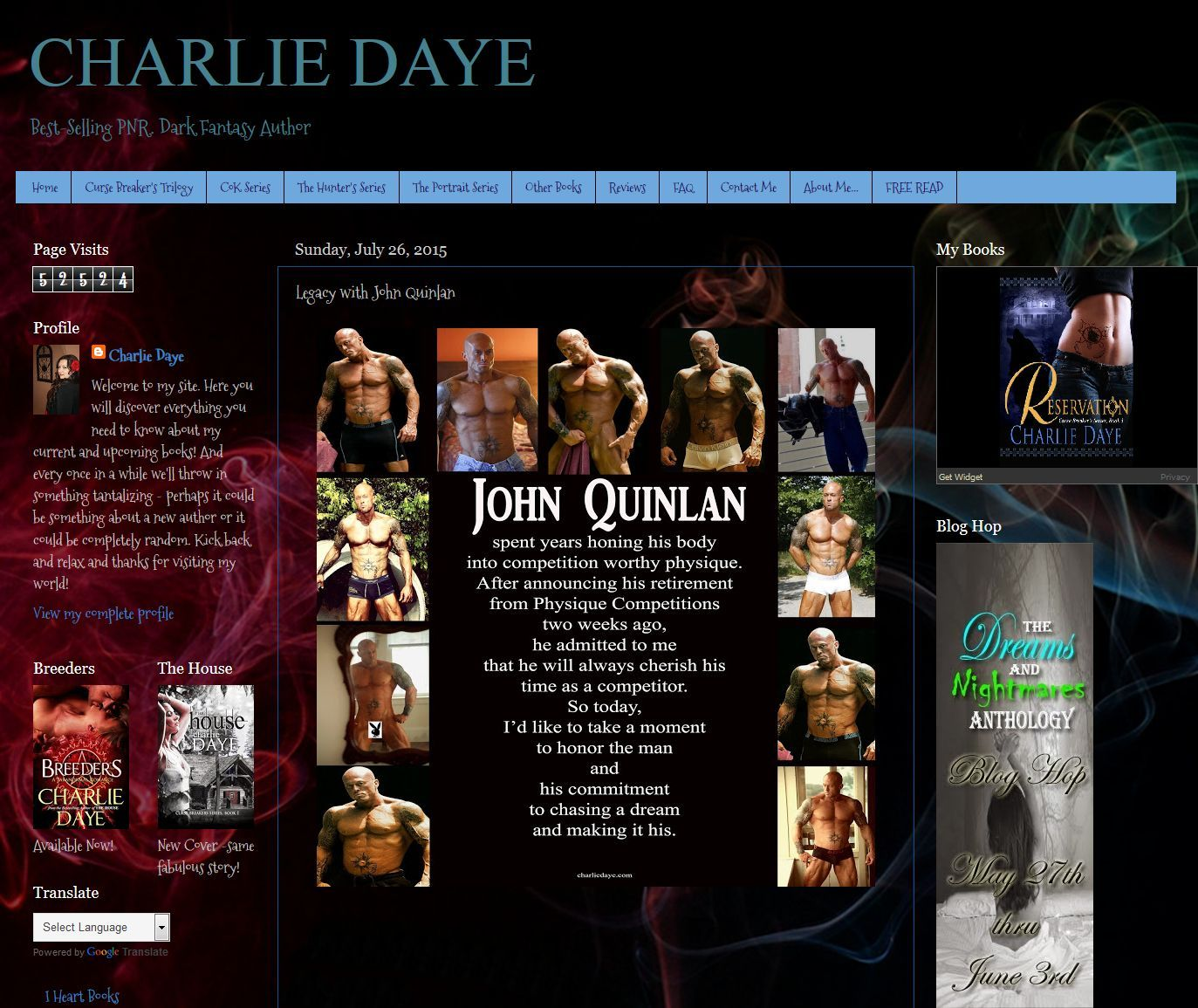 Author Charlie Daye Legacy Tribute to Romance & Physique Model John Joseph Quinlan #JohnQuinlan