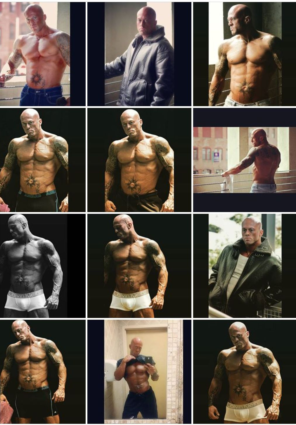 Male Physique Model & Actor John Joseph Quinlan June 2015 Photo Shoot Collage by Ms. X #JohnQuinlan