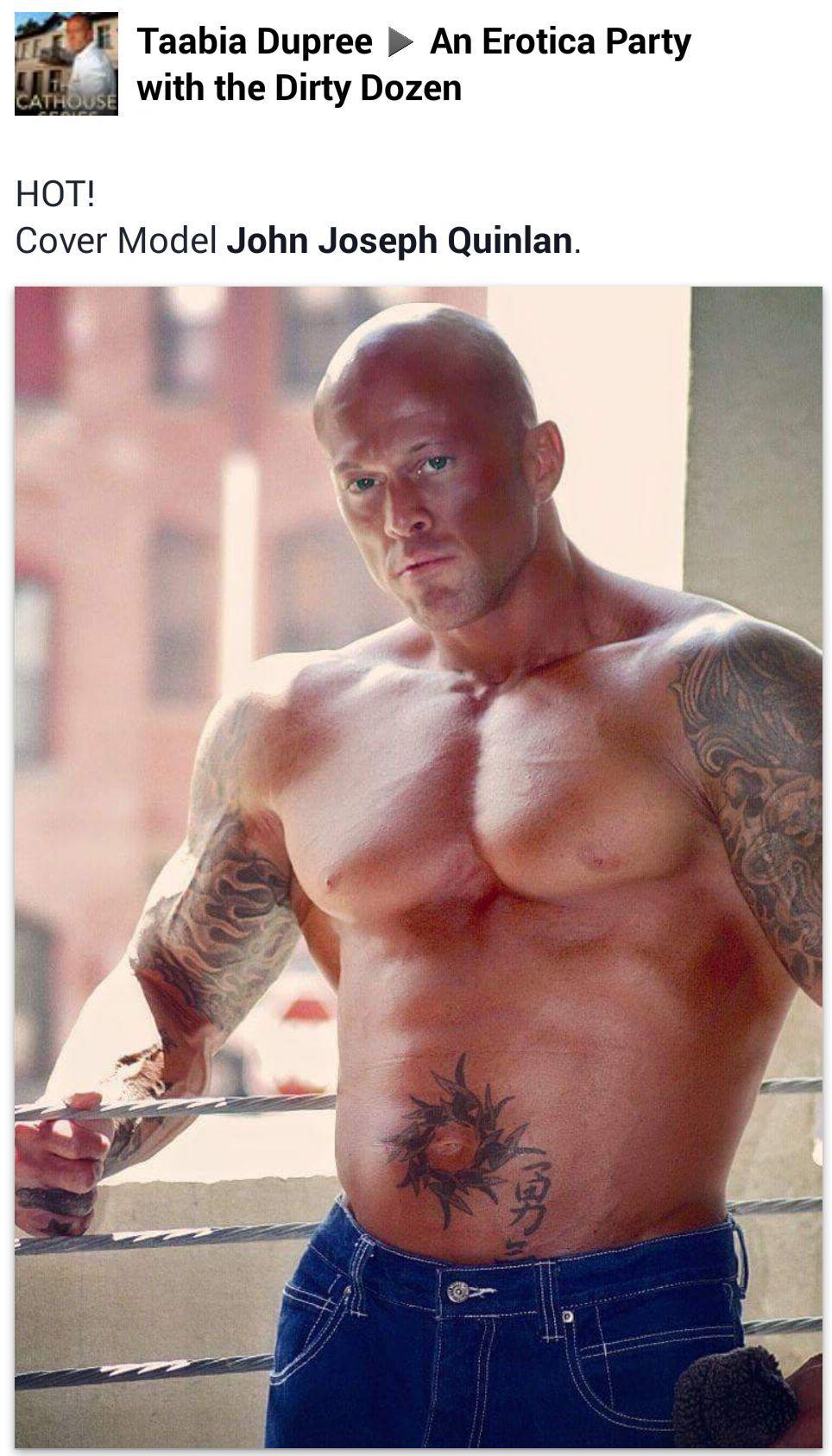 Tattooed Male Romance Cover Model John Joseph Quinlan by Taabia Dupree #JohnQuinlan