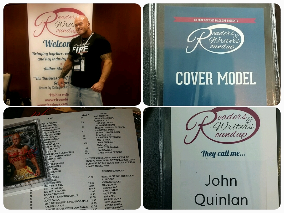 John Joseph Quinlan 2015 Dallas World Famous RT Convention Readers & Writers Roundup Featured Cover Model #JohnQuinlan