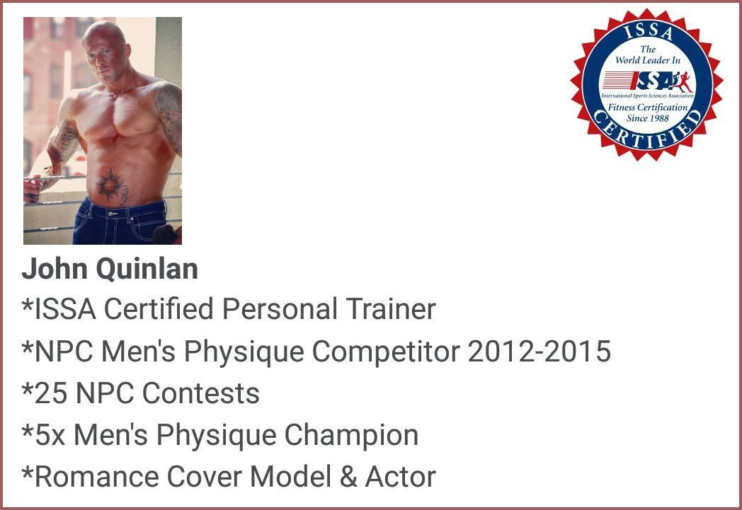 Physique Model & Actor John Joseph Quinlan 2015 Official ISSA Certified Personal Trainer #JohnQuinlan