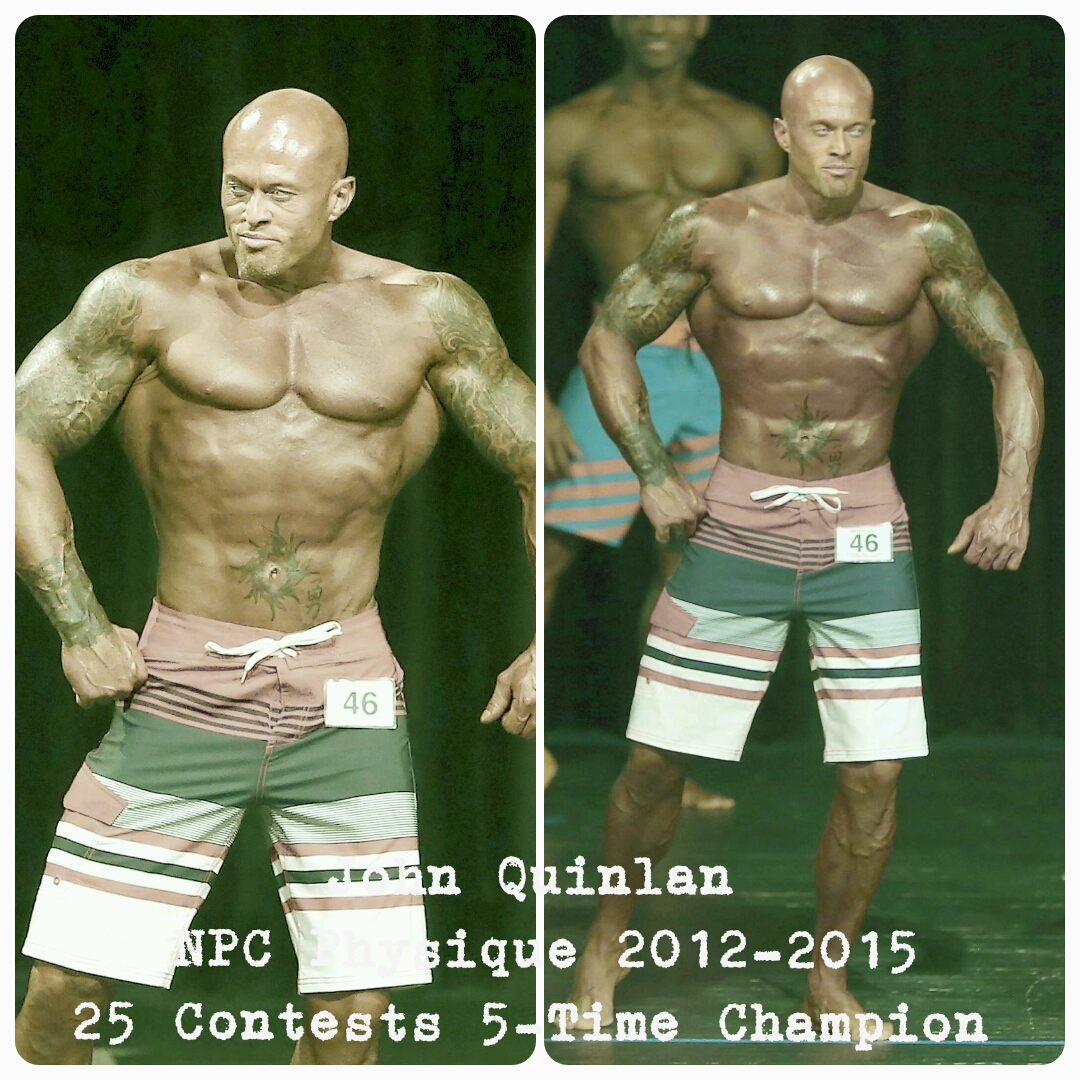 Tattooed Model John Joseph Quinlan NPC Physique 2012-2015 25 Contests 5-Time Champion #JohnQuinlan